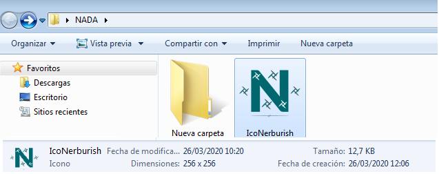 añadir icono en windows